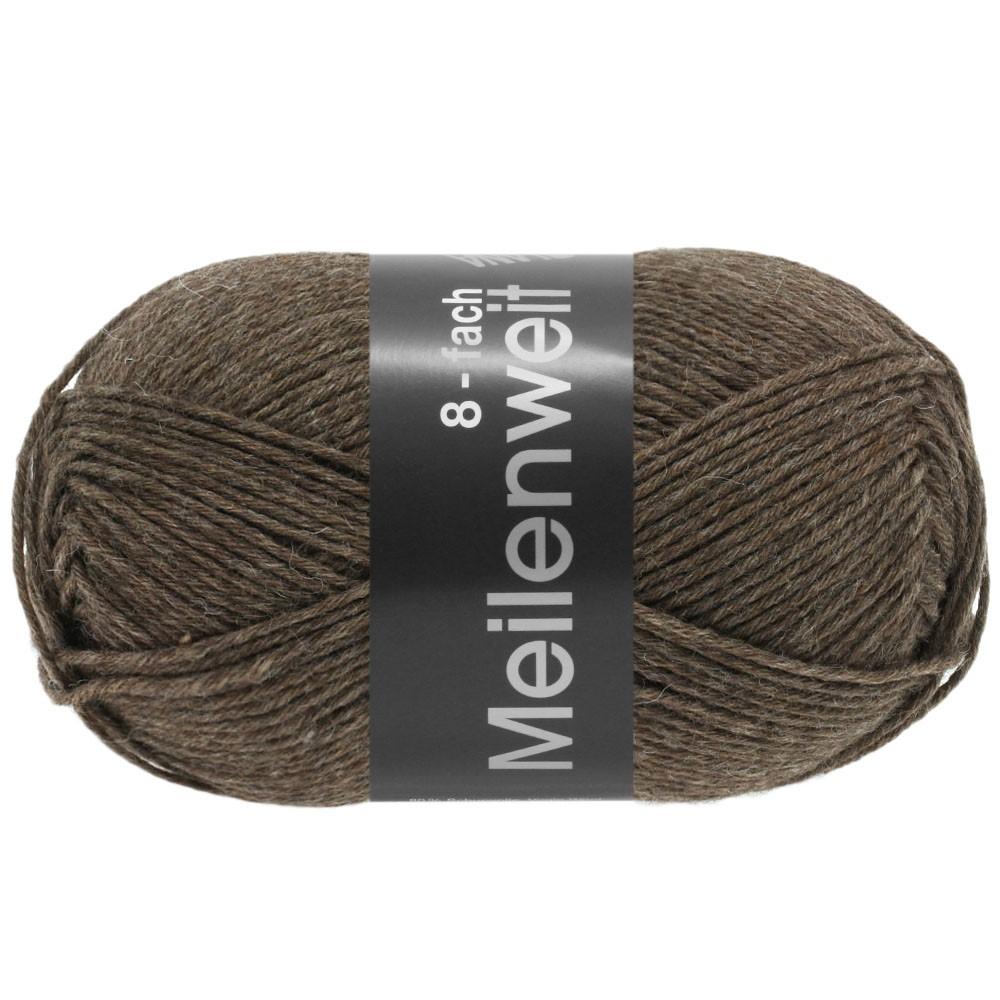 MEILENWEIT 8-FACH 100g Uni - von Lana Grossa | 9612-Braun