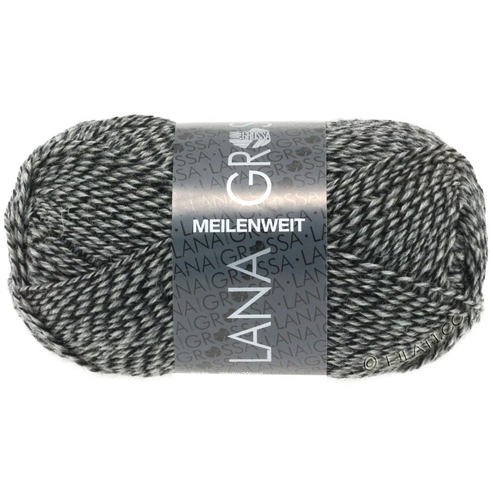 MEILENWEIT 50g Uni - von Lana Grossa | 1178-Natur/Grau/Schwarz