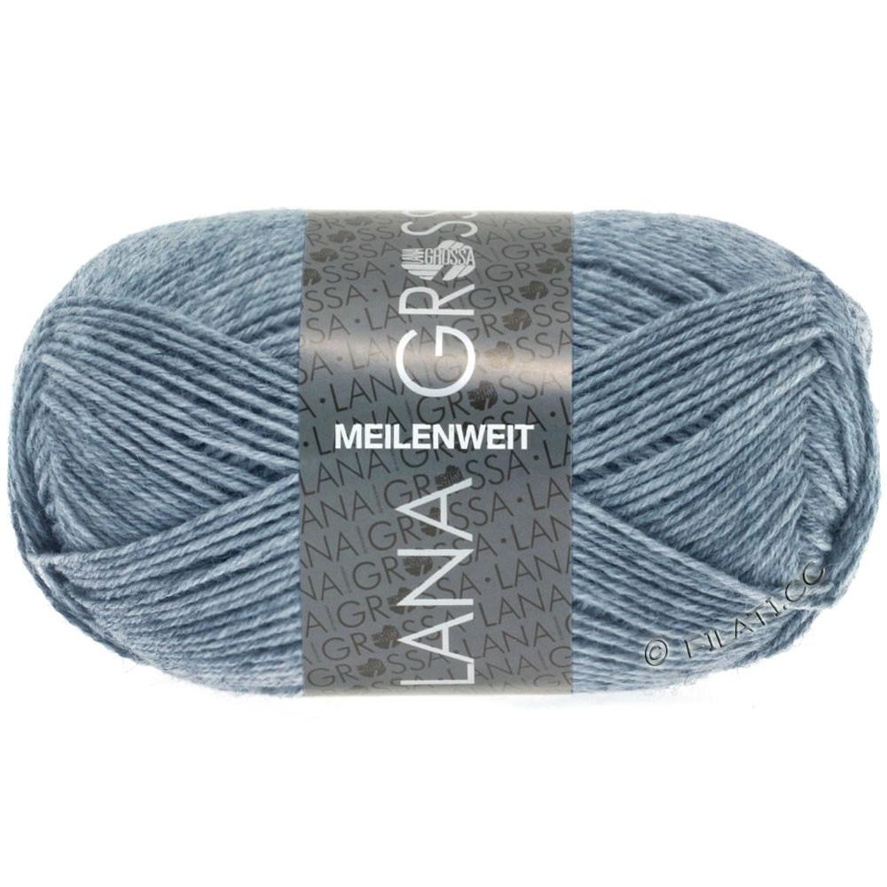 MEILENWEIT 50g Uni - von Lana Grossa | 1302-Jeans/Grau meliert