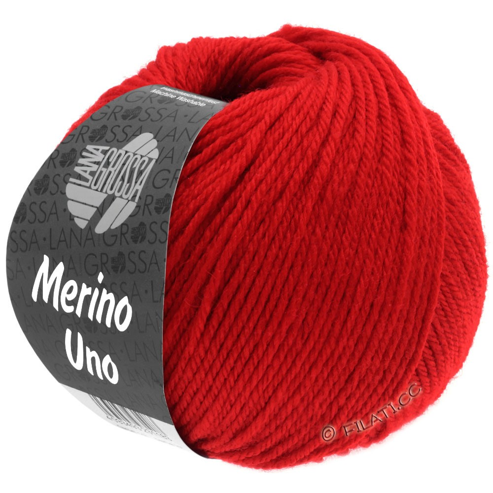 MERINO UNO - von Lana Grossa | 26-Rot