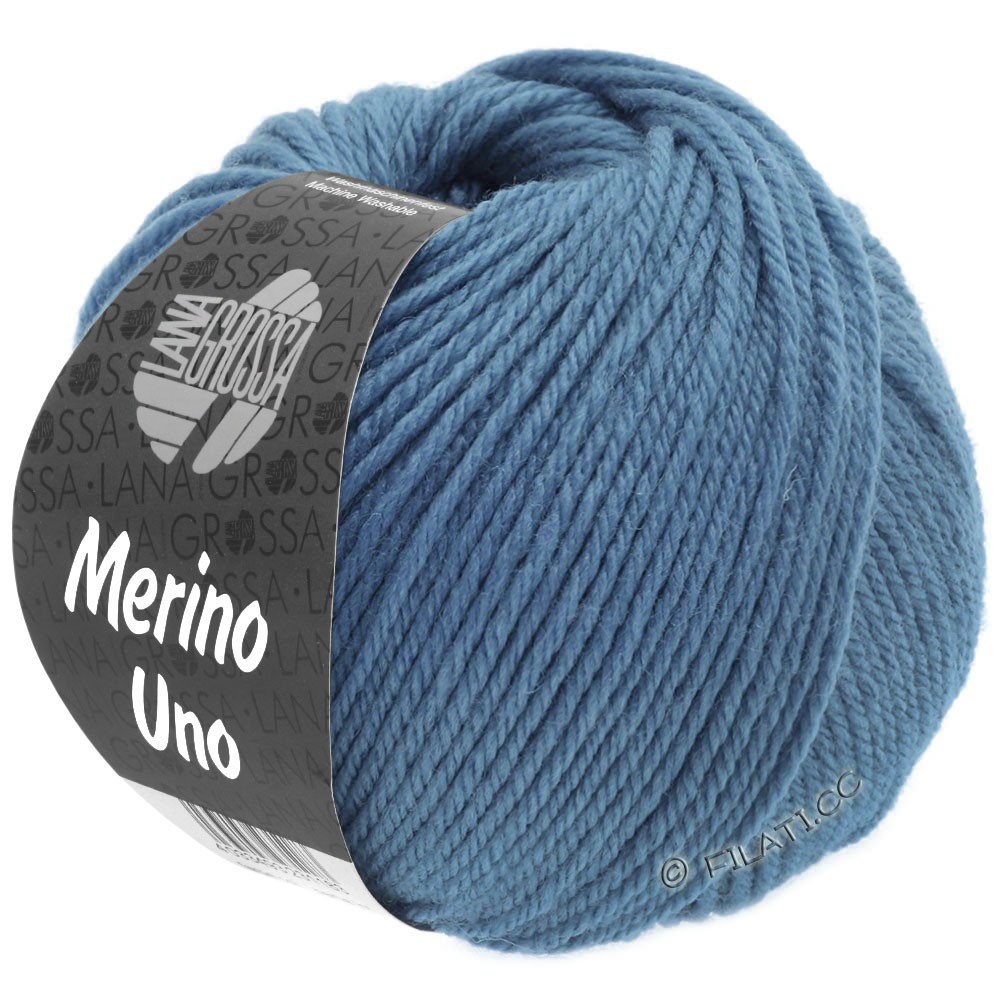 MERINO UNO - von Lana Grossa | 27-Taubenblau