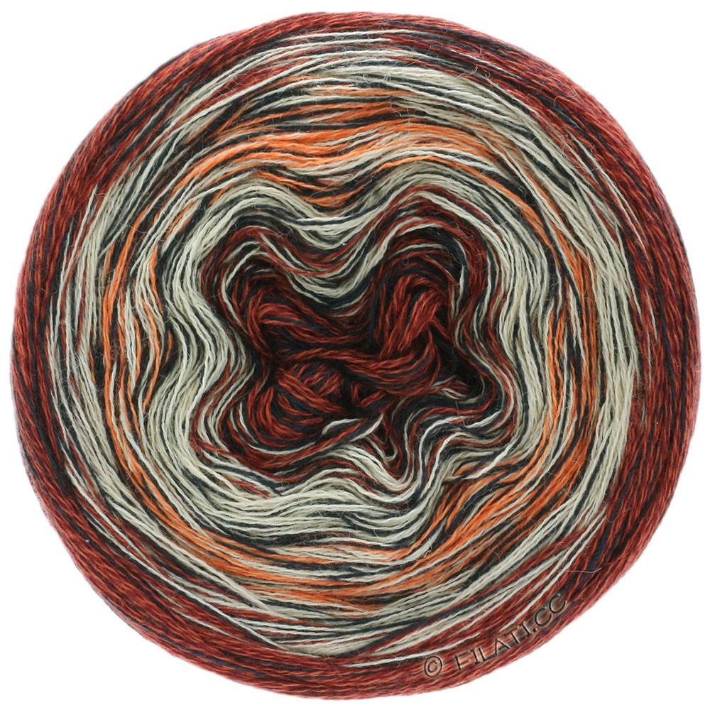 MIRROR SHADES - von Lana Grossa | 703-Terracotta/Beige/Anthrazit/Orange