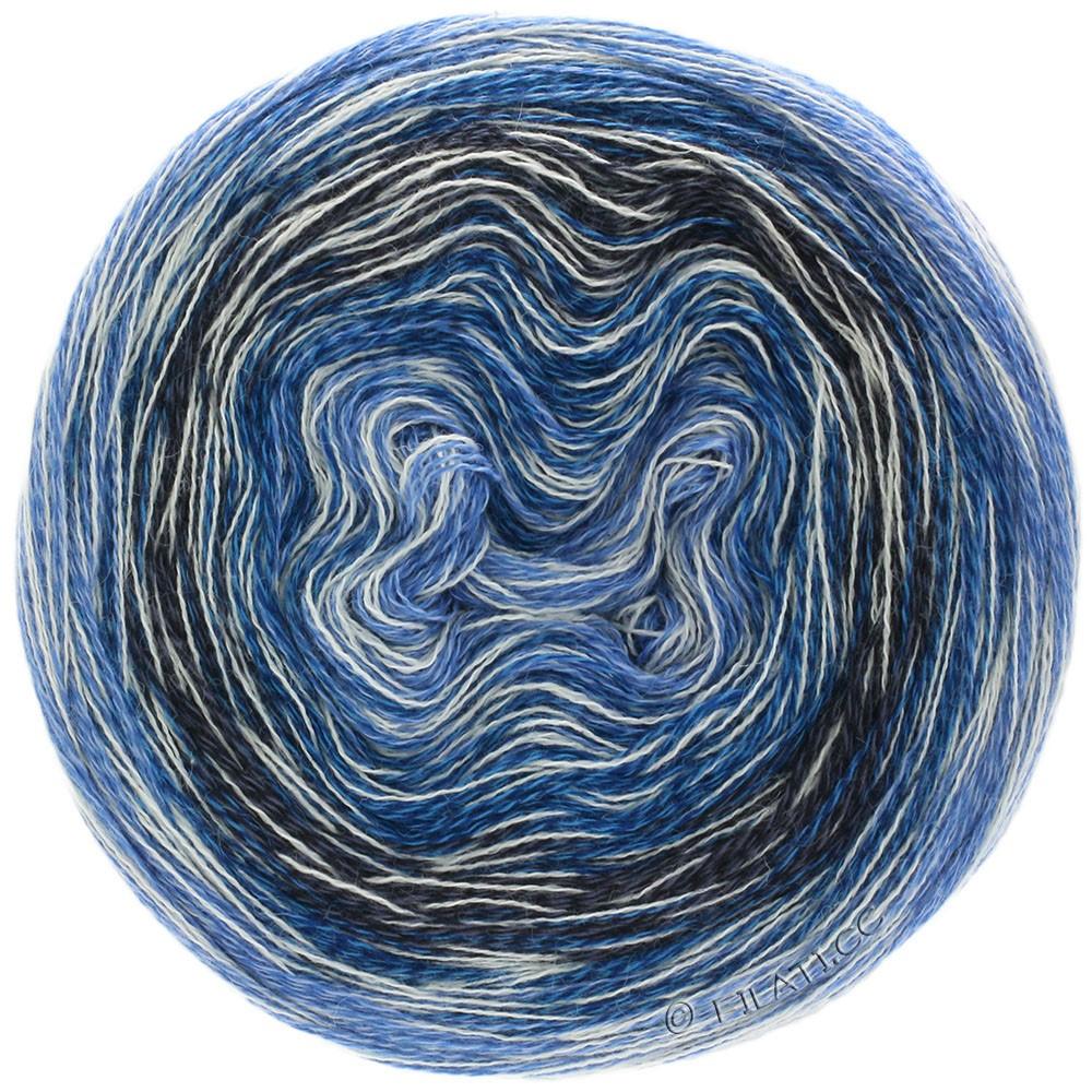 MIRROR SHADES - von Lana Grossa | 705-Blau/Weiß/Petrolblau/Anthrazit