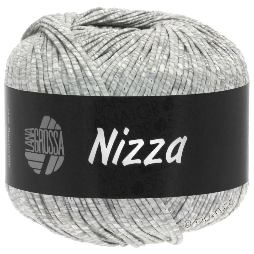 NIZZA - von Lana Grossa | 01-Weiß/Hellgrau/Silber