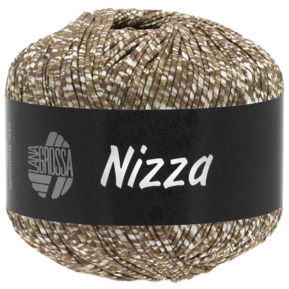 NIZZA - von Lana Grossa | 10-Weiß/Graubraun/Gold