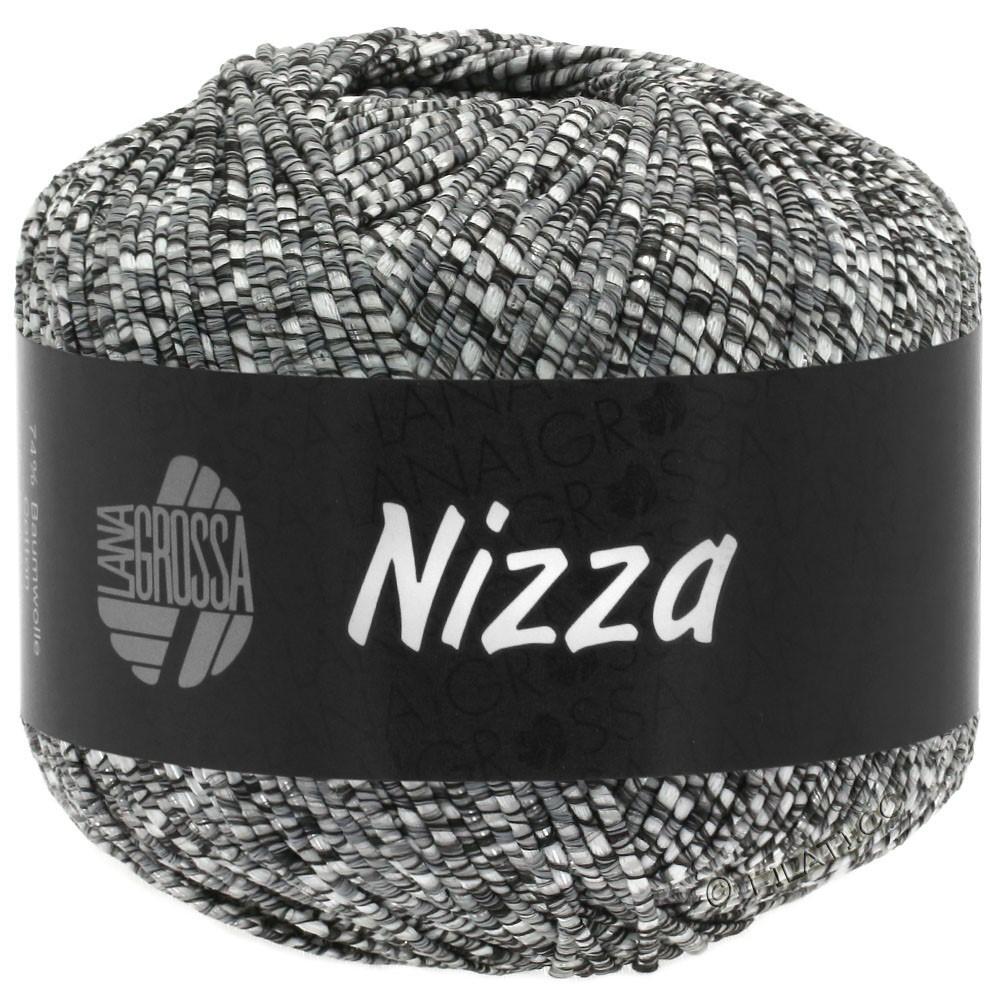 NIZZA - von Lana Grossa | 11-Natur/Dunkelgrau/Silber