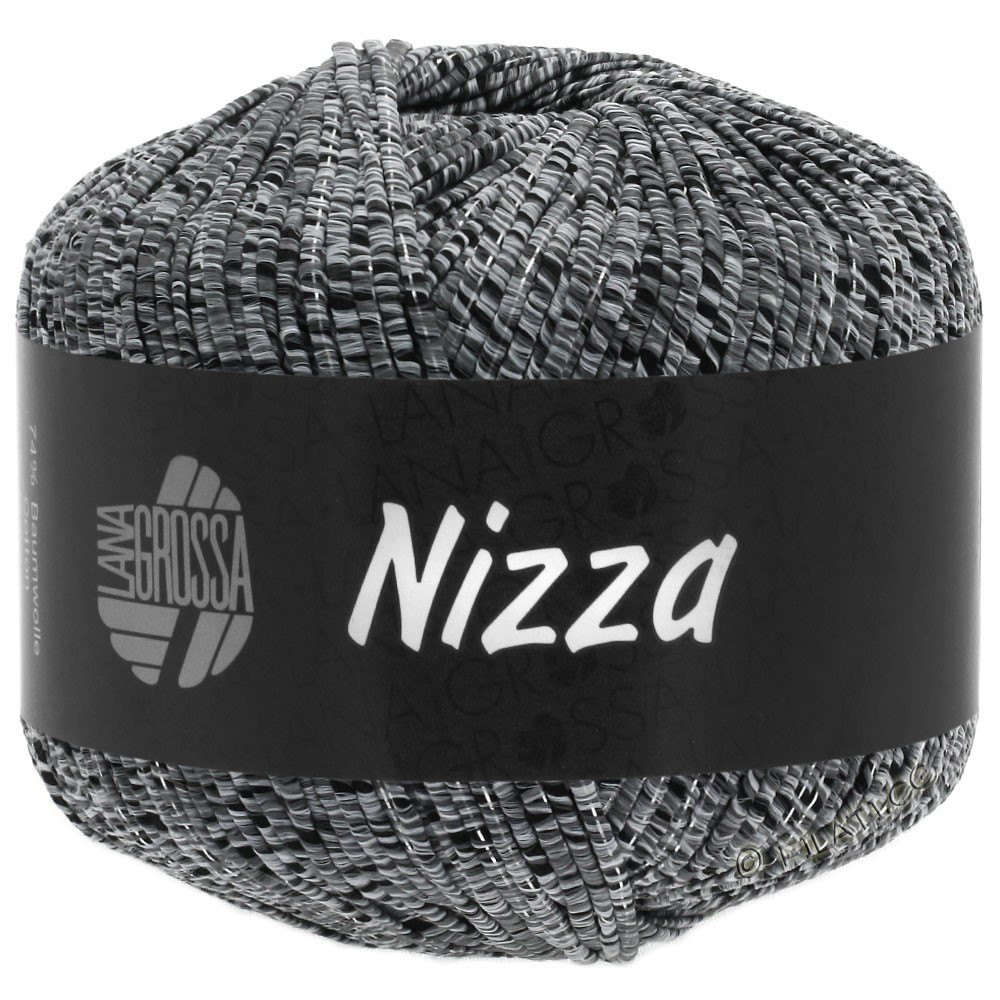 NIZZA - von Lana Grossa | 12-Hellgrau/Schwarz/Silber