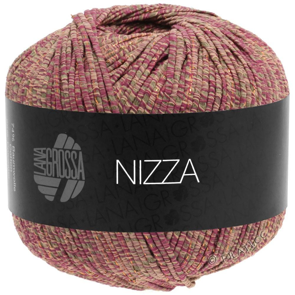 NIZZA - von Lana Grossa | 15-Orientrot/Taupe/Rosa/Gold