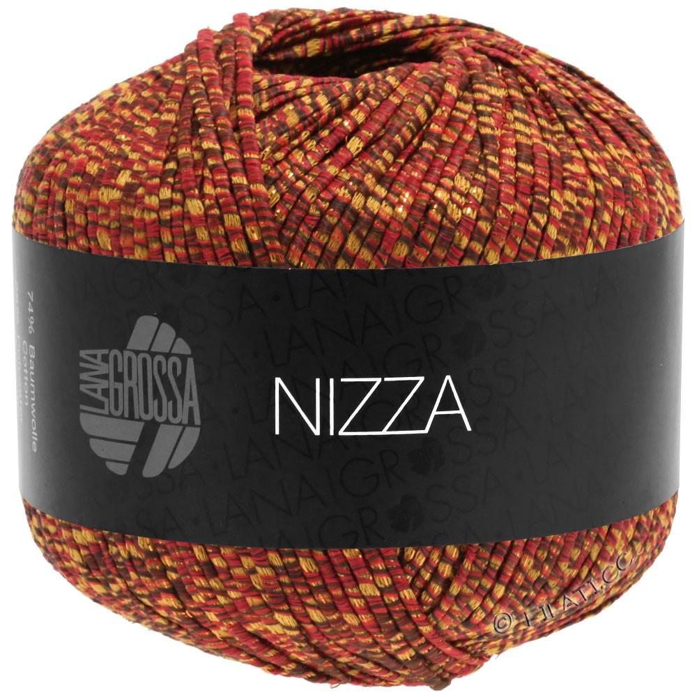 NIZZA - von Lana Grossa | 16-Burgund/Senfgelb/Gold