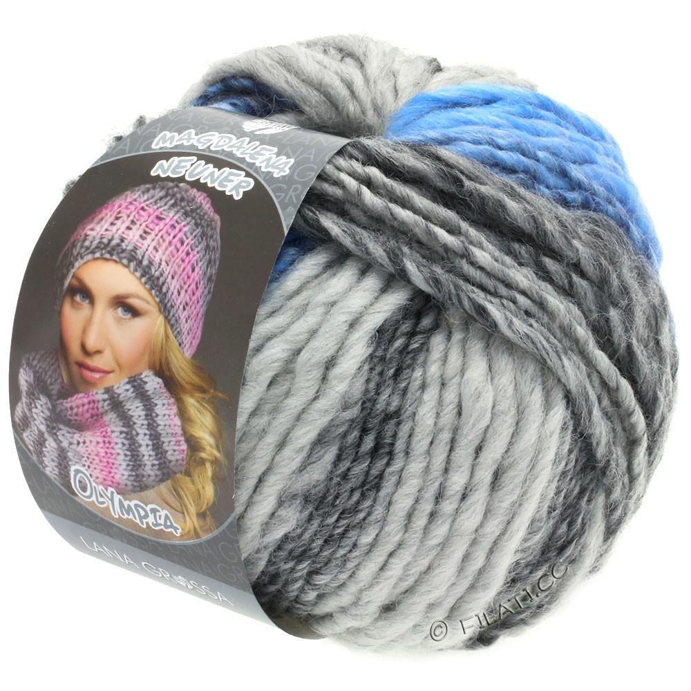 OLYMPIA Grey - von Lana Grossa | 802-Dunkelgrau/Hellgrau/Jeans/Kornblume