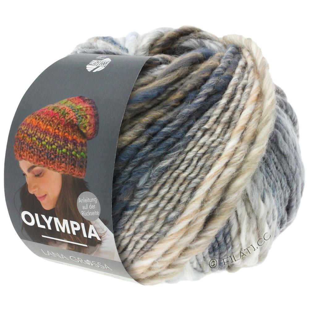 OLYMPIA Classic - von Lana Grossa   026-Rohweiß/Hellgrau/Mittelgrau/Dunkelgrau/Taupe
