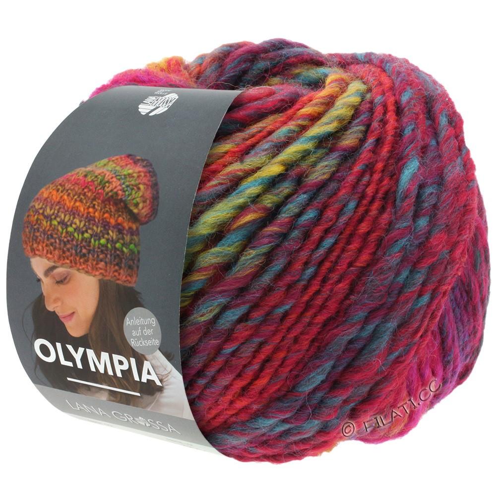 OLYMPIA Classic - von Lana Grossa | 062-Rot/Blau/Petrol/Hellgrün/Dunkelrot