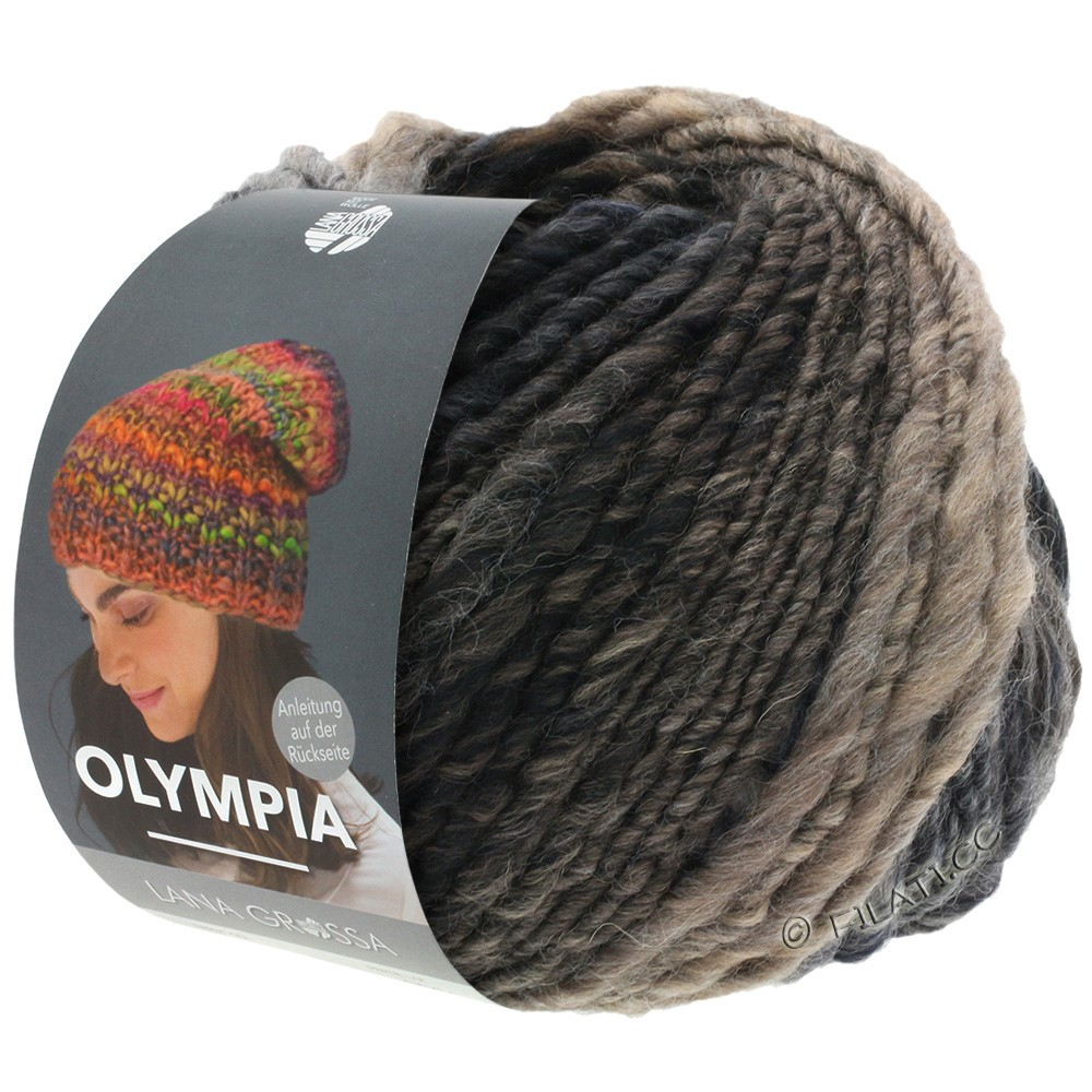 OLYMPIA Classic - von Lana Grossa   074-Graubraun/Mokka/Schwarz/Schwarzbraun