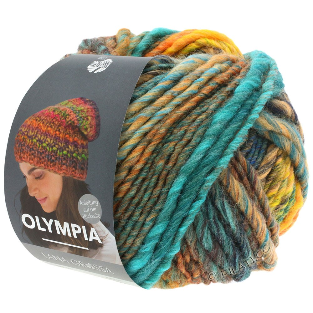 OLYMPIA Classic - von Lana Grossa   076-Marine/Sand/Türkis/Orange/Khaki