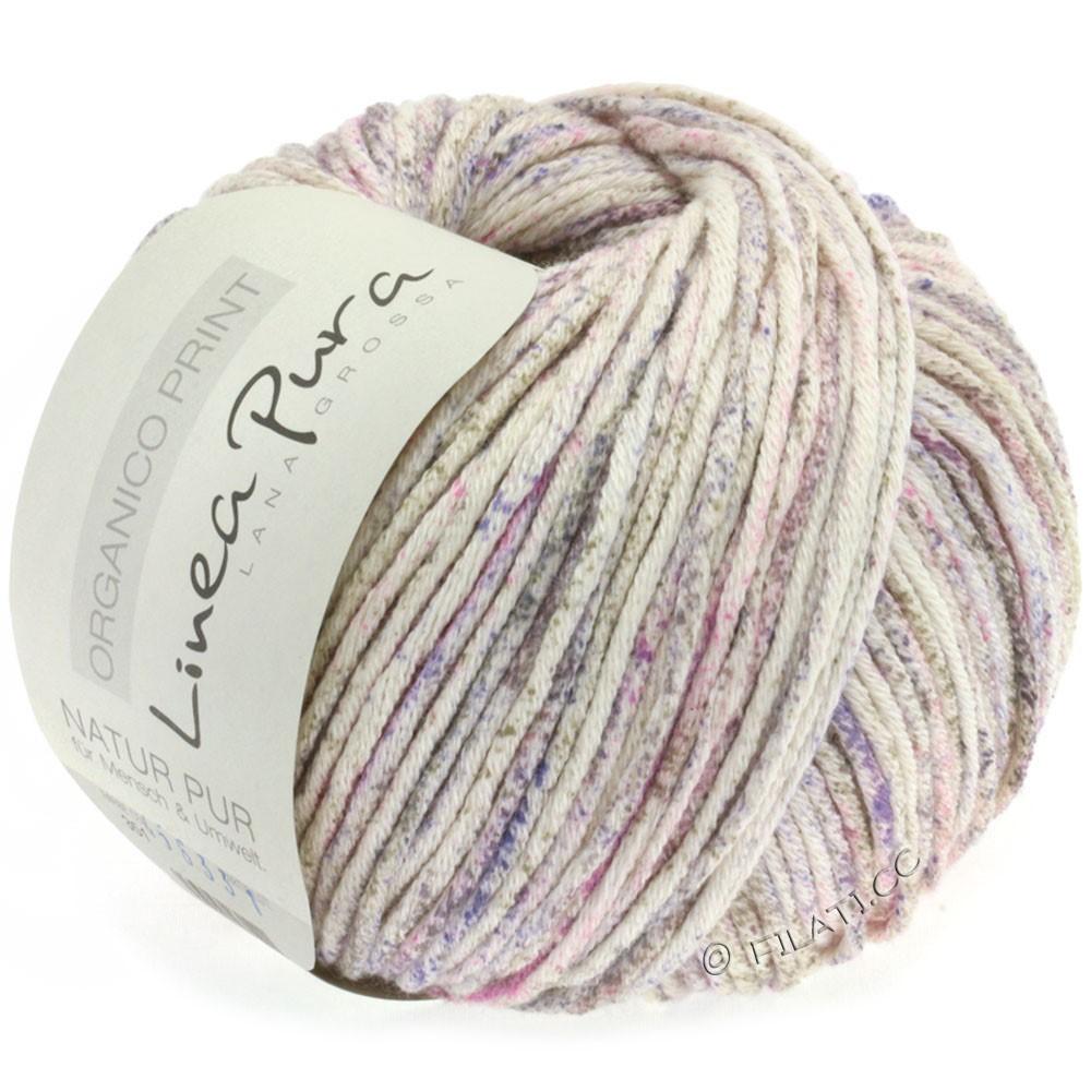 ORGANICO Print (Linea Pura) - von Lana Grossa | 351-Natur/Pink/Lavendel/Graubraun