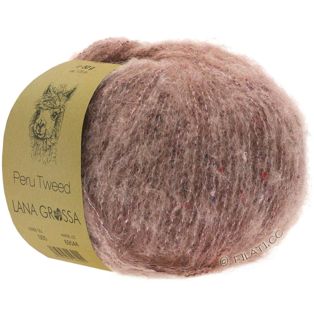 PERU Tweed - von Lana Grossa   03-Rosenholz