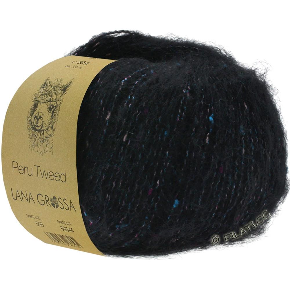 PERU Tweed - von Lana Grossa   06-Schwarz
