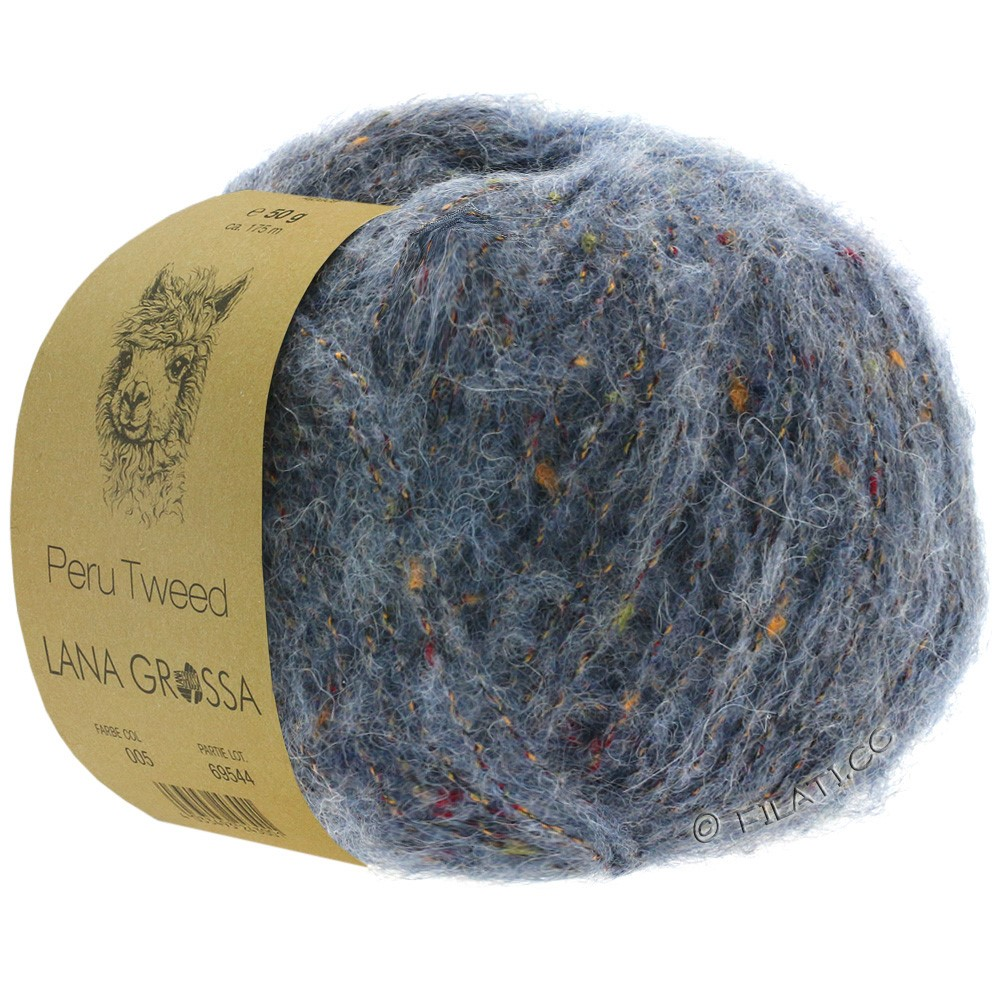 PERU Tweed - von Lana Grossa   07-Graublau