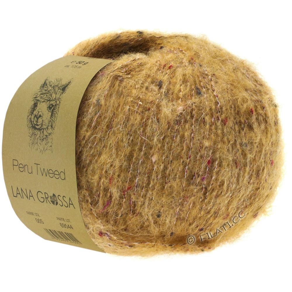 PERU Tweed - von Lana Grossa   08-Goldbraun