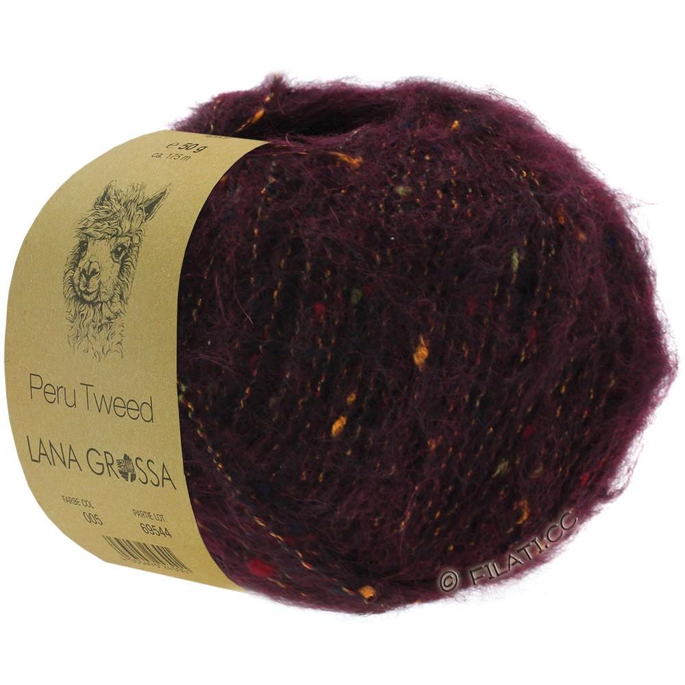 PERU Tweed - von Lana Grossa   12-Brombeer