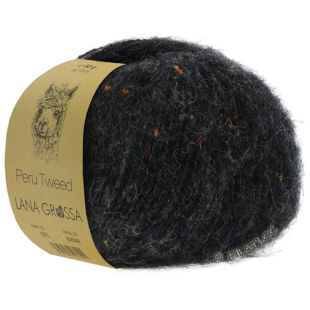 PERU Tweed - von Lana Grossa   13-Anthrazit