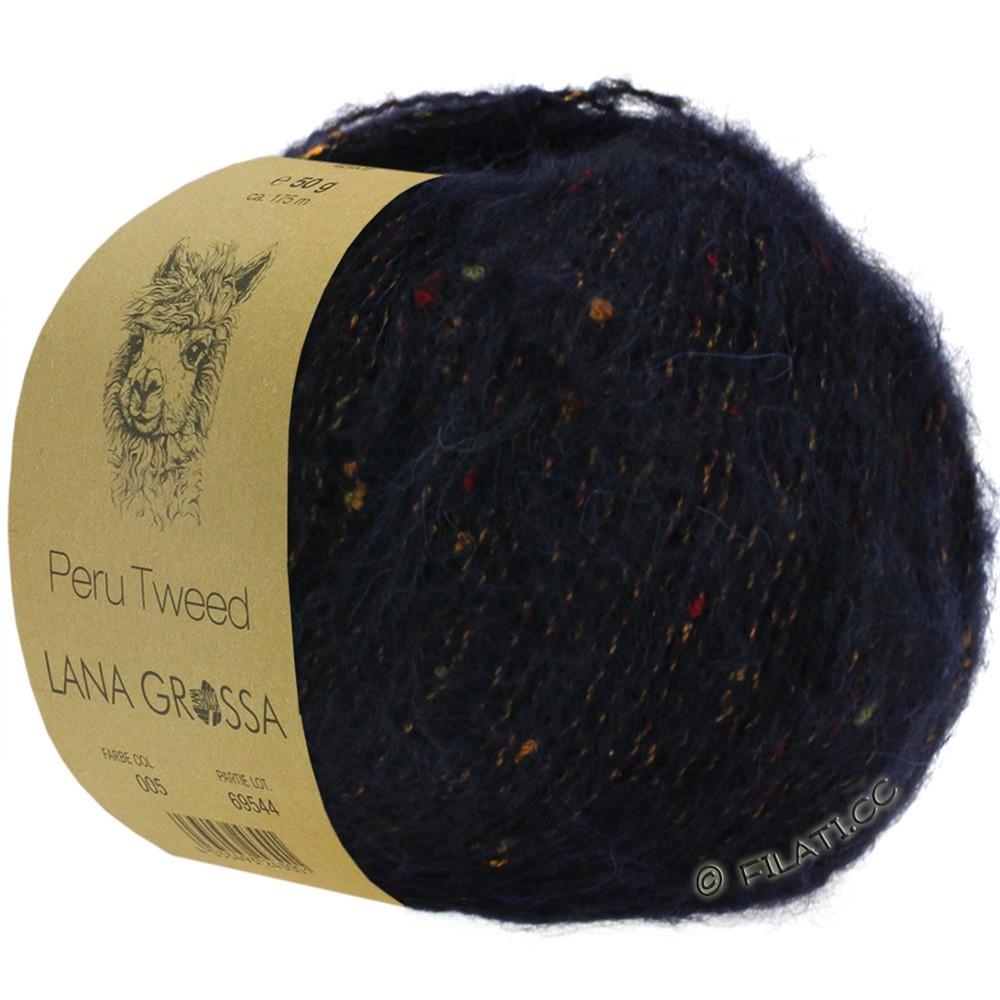 PERU Tweed - von Lana Grossa   14-Nachtblau