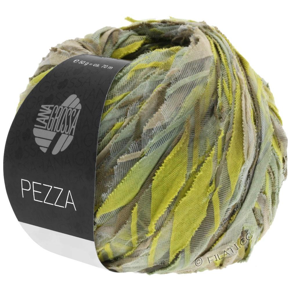 PEZZA - von Lana Grossa | 02-Beige/Grüngelb/Khaki/Schilf