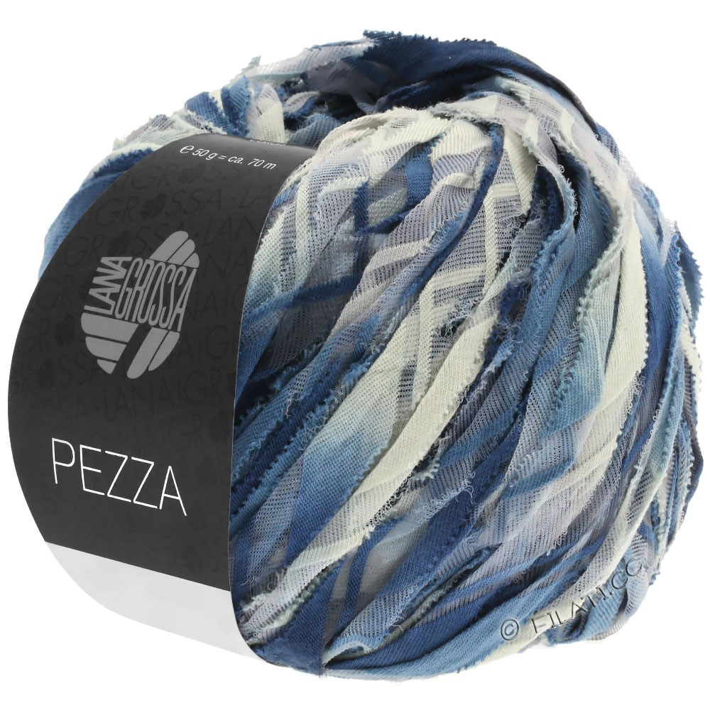 PEZZA - von Lana Grossa | 04-Blaugrau/Jeans/Grège/Stahlblau