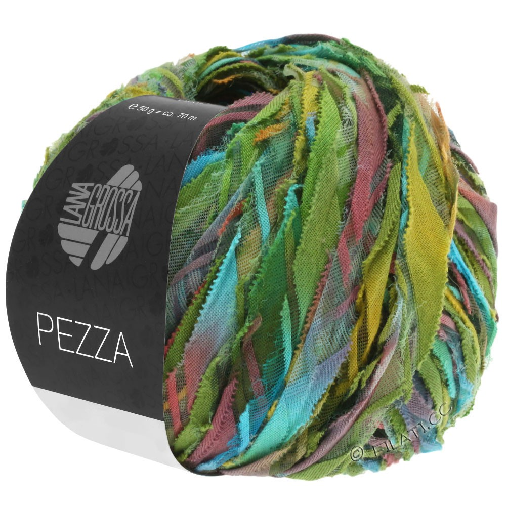 PEZZA - von Lana Grossa | 05-Grün/Türkis/Terracotta/Ocker/Oliv