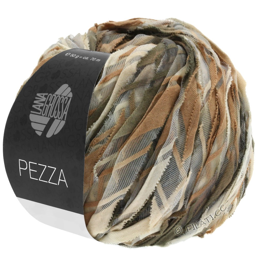 PEZZA - von Lana Grossa | 08-Beige/Camel/Taupe/Graubraun