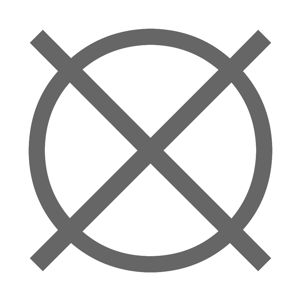 Chemische Reinigung nicht erlaubt