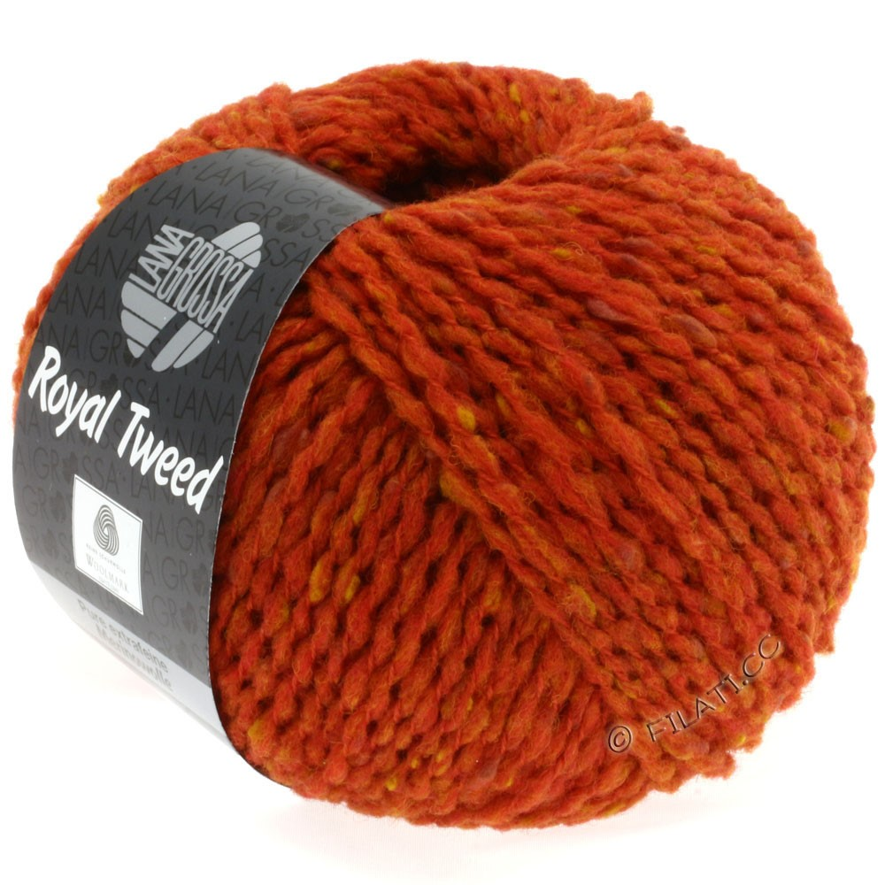 ROYAL TWEED - von Lana Grossa | 57-Orangerot meliert