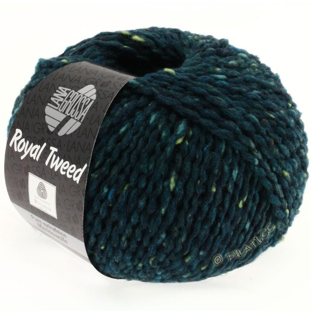 ROYAL TWEED - von Lana Grossa | 76-Dunkelpetrol meliert