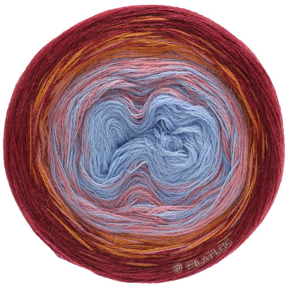 SHADES OF ALPACA SILK - von Lana Grossa | 301-Hellblau/Blau/Rosa/Orange/Bordeaux