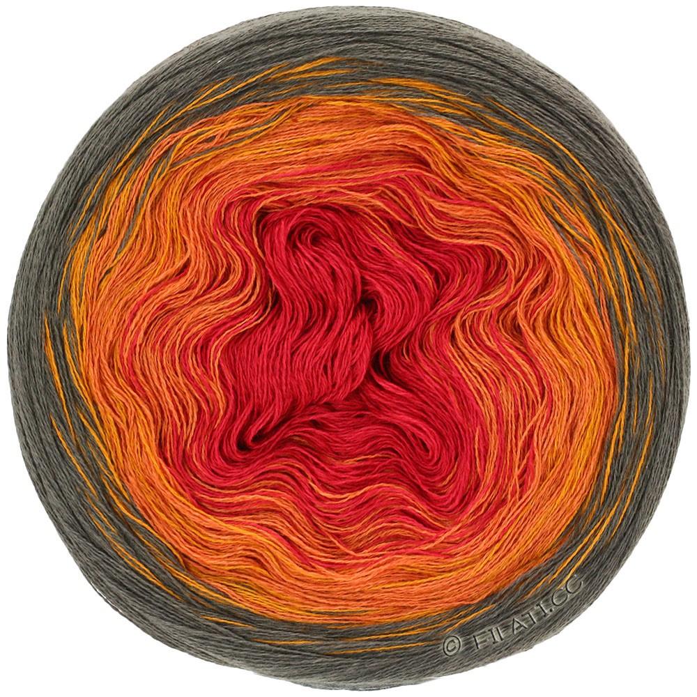 SHADES OF COTTON LINEN - von Lana Grossa | 707-Mokka/Gold/Orange/Rot