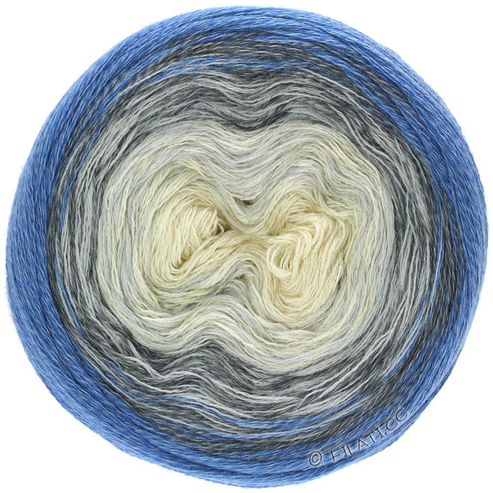 SHADES OF MERINO COTTON - von Lana Grossa   408-Weiß/Silbergrau/Grau/Dunkelgrau/Anthrazit