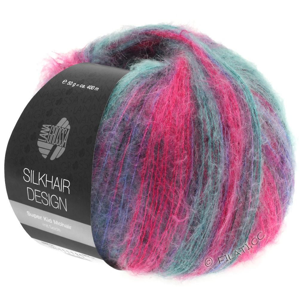 SILKHAIR Design - von Lana Grossa | 1004-Pink/Brombeer/Petrol/Blauviolett