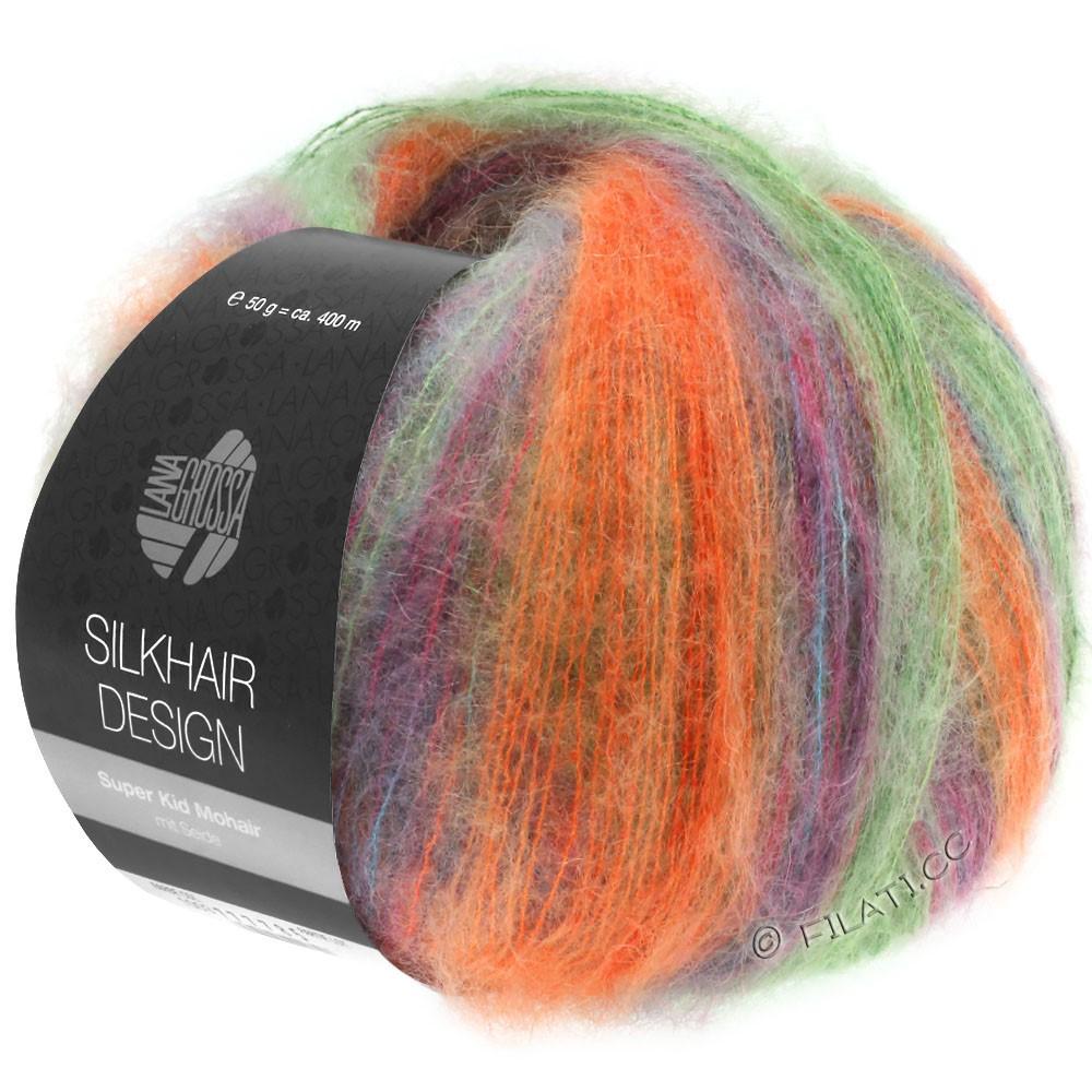 SILKHAIR Design - von Lana Grossa | 1005-Grün/Orange/Petrol/Zyklam/Brombeer