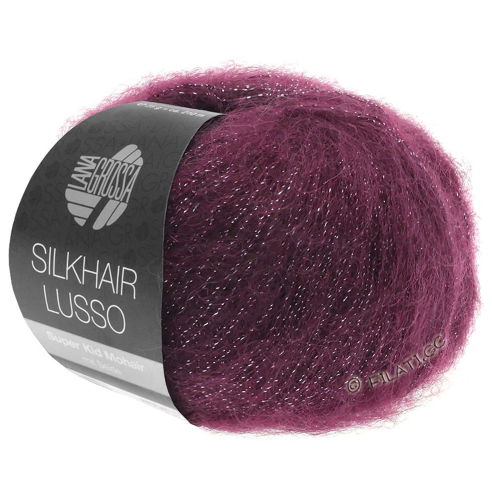 SILKHAIR Lusso - von Lana Grossa   905-Burgund