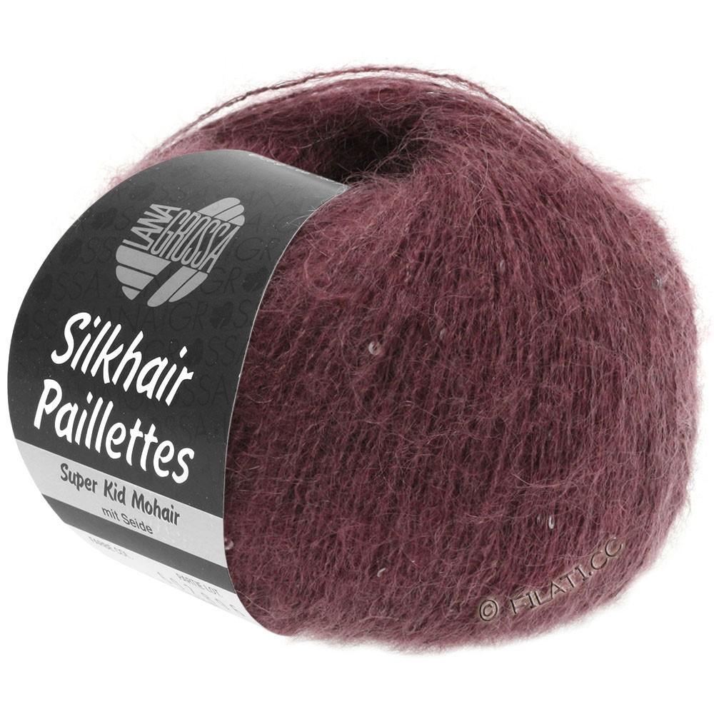 SILKHAIR Paillettes - von Lana Grossa | 405-Bordeaux