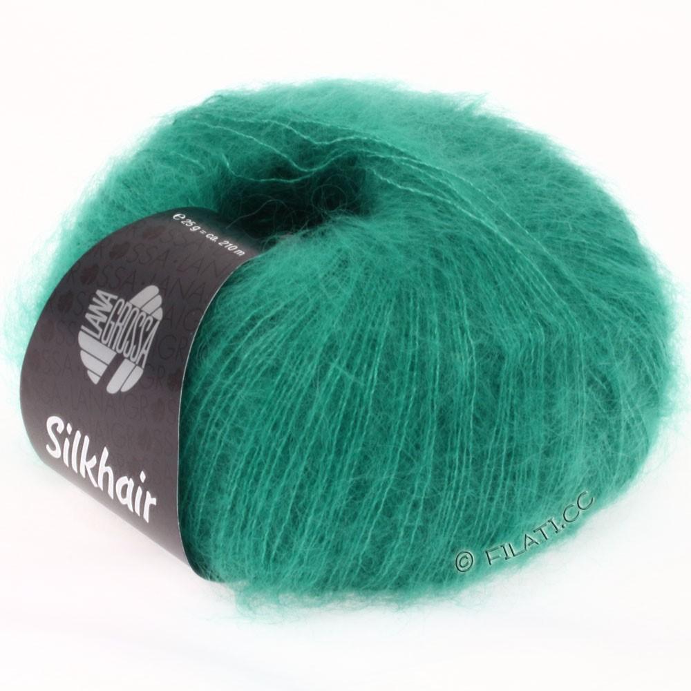 SILKHAIR  Uni/Melange - von Lana Grossa   022-Türkisgrün