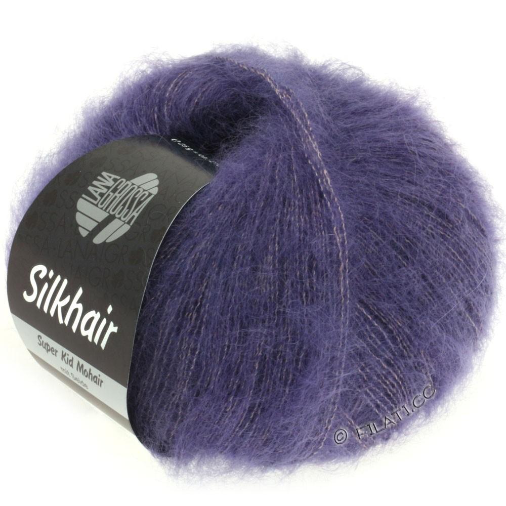 SILKHAIR  Uni/Melange - von Lana Grossa | 080-Pflaumenblau