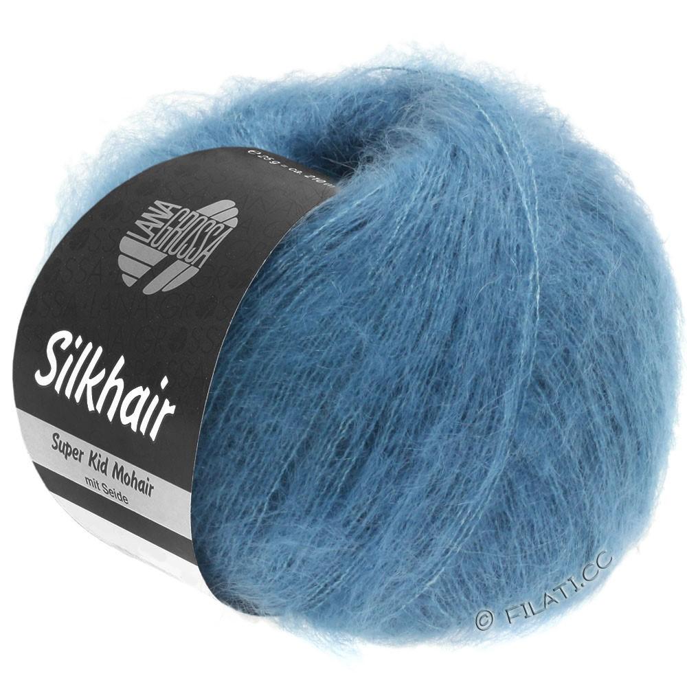 SILKHAIR  Uni/Melange - von Lana Grossa | 103-Jeansblau