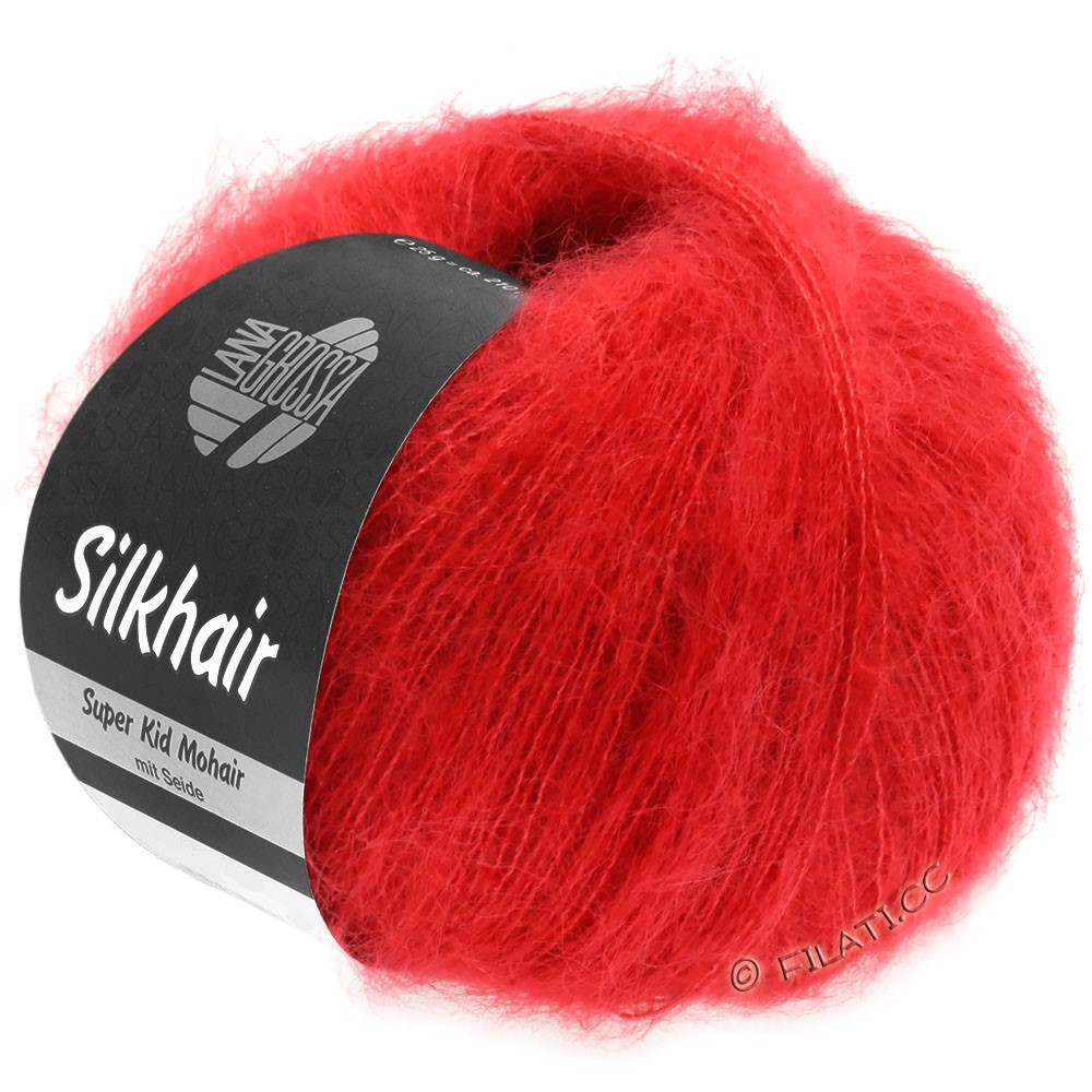 SILKHAIR  Uni/Melange - von Lana Grossa | 112-Rot