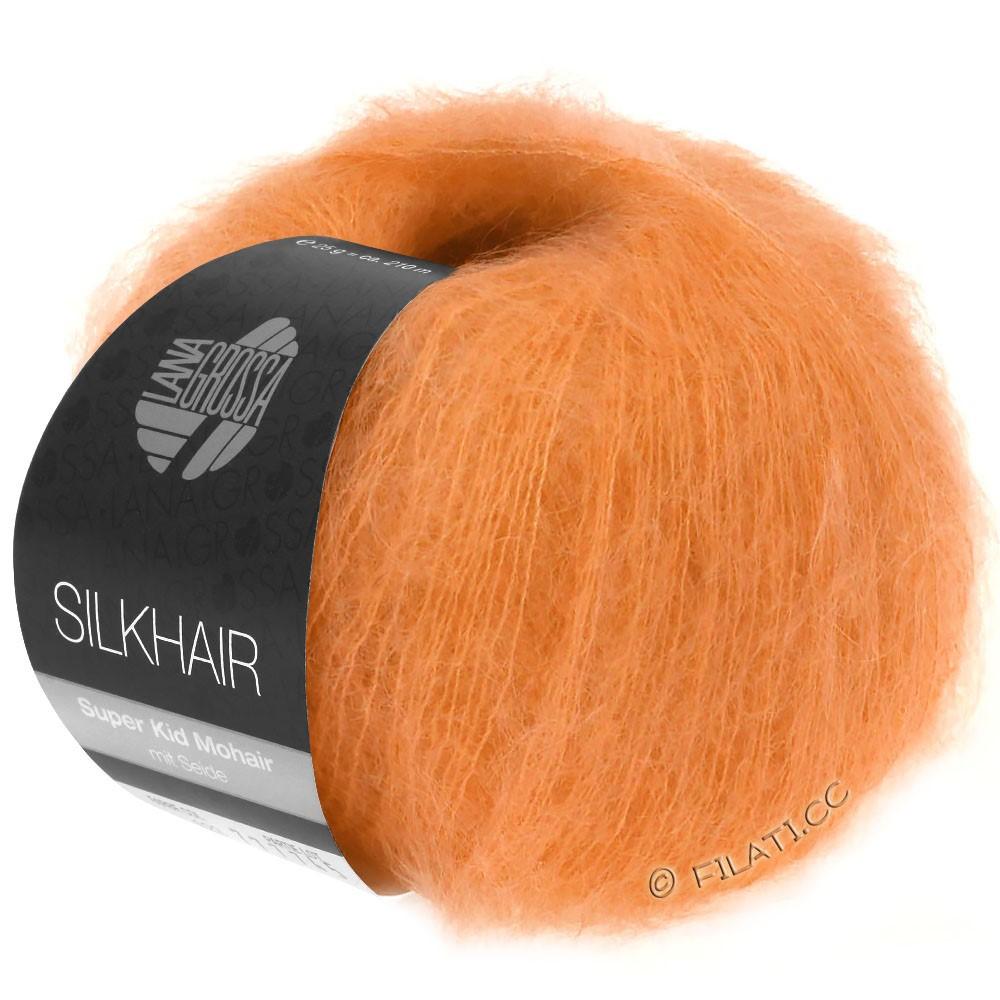 SILKHAIR  Uni/Melange - von Lana Grossa | 125-Orange