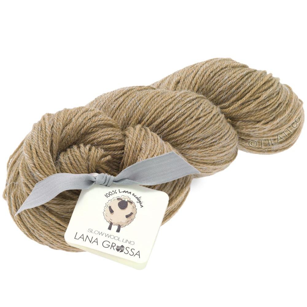 SLOW WOOL LINO - von Lana Grossa | 02-Camel