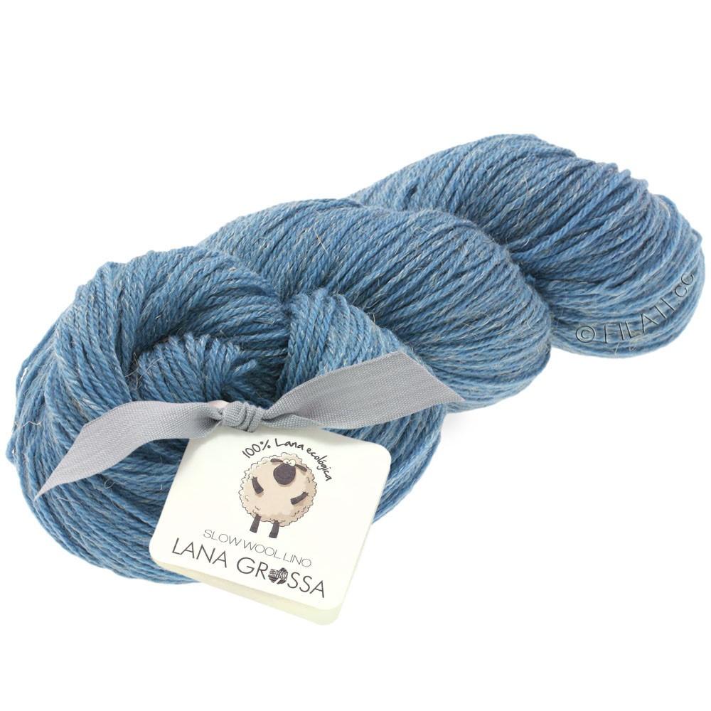 SLOW WOOL LINO - von Lana Grossa | 12-Mittelblau