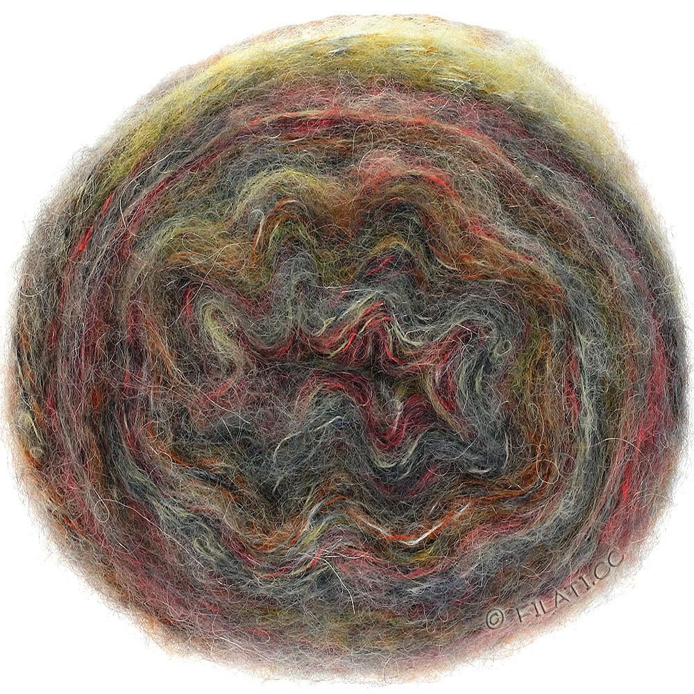 TUTTI - von Lana Grossa   13-Grau/Pastellrot/Senf/Orangebraun/Natur/Anthrazit