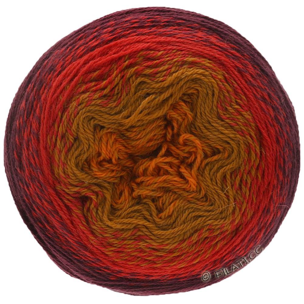 TWISTED CASHMERINO - von Lana Grossa   805-Orange/Senf/Rot/Burgund