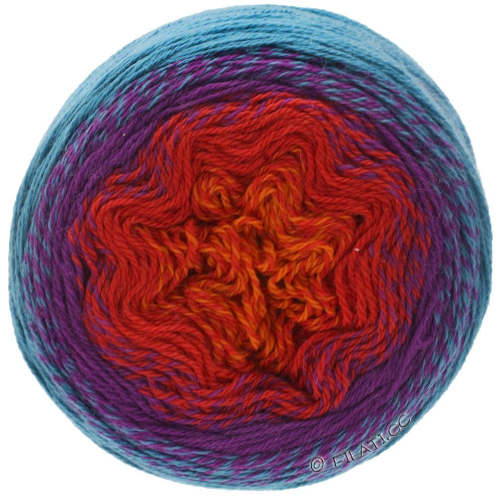 TWISTED CASHMERINO - von Lana Grossa   806-Orange/Rot/Violett/Petrolgrün